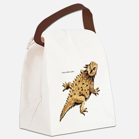 Regal Horned Lizard Canvas Lunch Bag