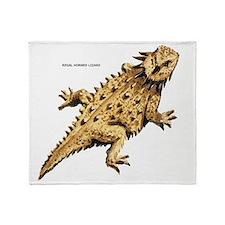 Regal Horned Lizard Throw Blanket