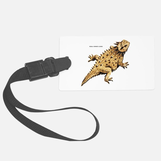 Regal Horned Lizard Luggage Tag