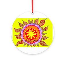 Unique Healing religion beliefs peace Ornament (Round)