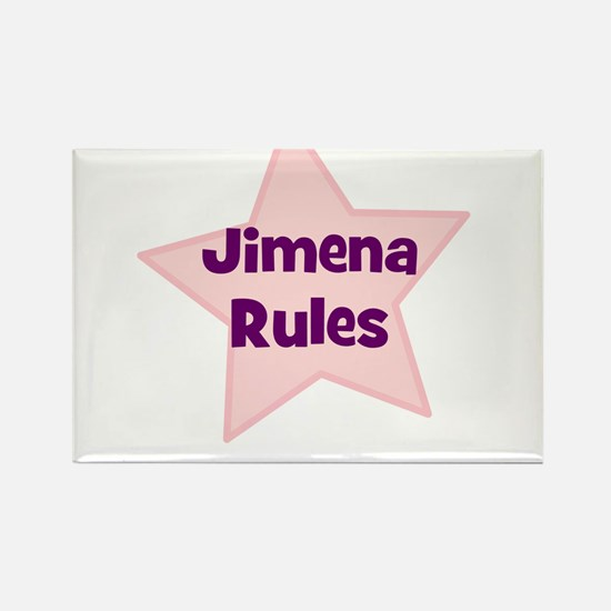 Jimena Rules Rectangle Magnet