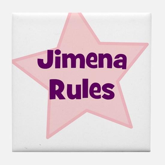 Jimena Rules Tile Coaster