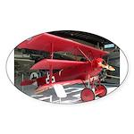 The Fokker DR1 #2 Shop Oval Sticker