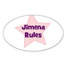 Jimena Rules Oval Decal