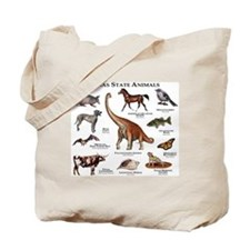 Texas State Animals Tote Bag