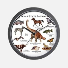 Texas State Animals Wall Clock