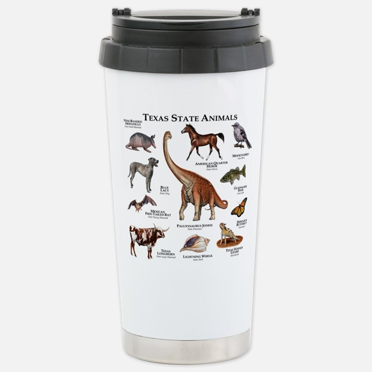 Texas State Animals Stainless Steel Travel Mug
