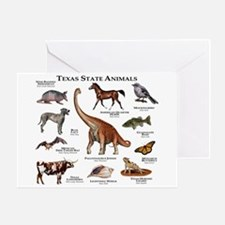 Texas State Animals Greeting Card