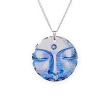Blue Buddha Face Necklace