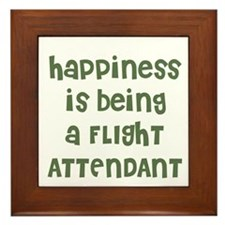 Happiness is being a FLIGHT A Framed Tile