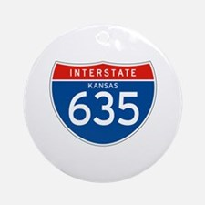 Interstate 635 - KS Ornament (Round)