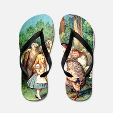 Alice and the Dodo Bird Flip Flops