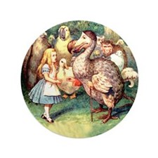 """Alice and the Dodo Bird 3.5"""" Button (100 pack)"""
