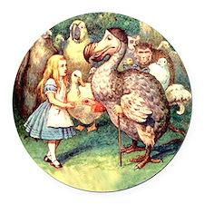 Alice and the Dodo Bird Round Car Magnet