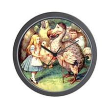 Alice and the Dodo Bird Wall Clock