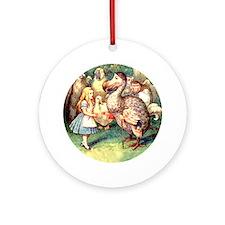 Alice and the Dodo Bird Ornament (Round)