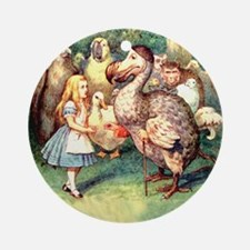 Alice and the Dodo Bird Ornament (Round)