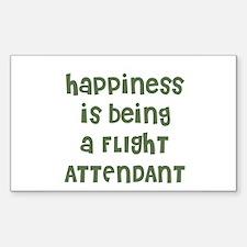 Happiness is being a FLIGHT A Sticker (Rectangular
