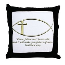 Matthew 4:19 Throw Pillow