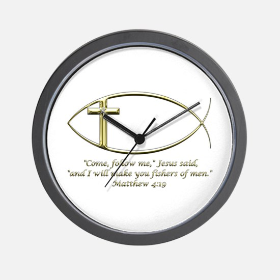 Matthew 4:19 Wall Clock