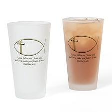Matthew 4:19 Drinking Glass