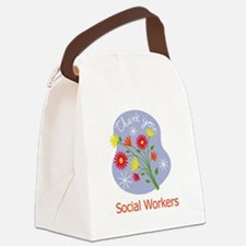 Thanks Social Workers Canvas Lunch Bag