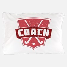 Field Hockey Coach (red) Pillow Case