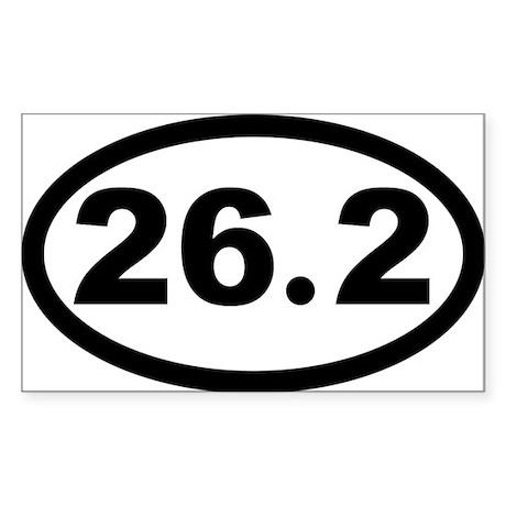 26.2 Marathon Oval Sticker