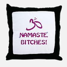 Namaste Bitches - Purple Glitter Effect Throw Pill
