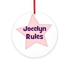 Jocelyn Rules Ornament (Round)