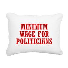 Minimum Wage Rectangular Canvas Pillow