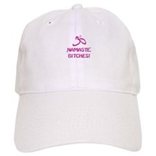 Namaste Bitches- Pink Glitter Effect Baseball Baseball Cap