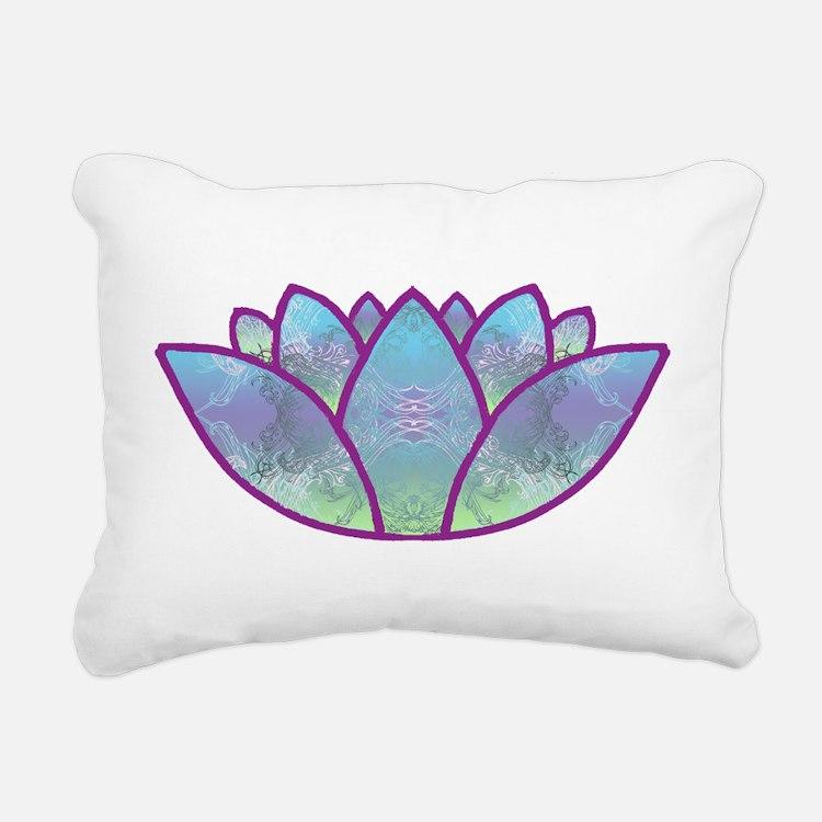 LOTUS LaptopSkin.png Rectangular Canvas Pillow
