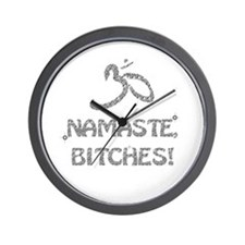 Sparkly Namaste Bitches Wall Clock