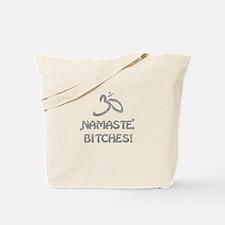 Sparkly Namaste Bitches Tote Bag