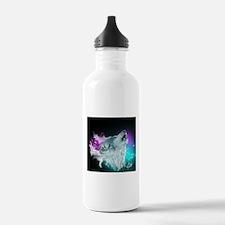 Northern Lights Wolf Spirit Water Bottle