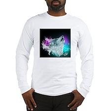 Northern Lights Wolf Spirit Long Sleeve T-Shirt