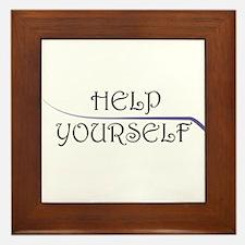 Help Yourself Framed Tile