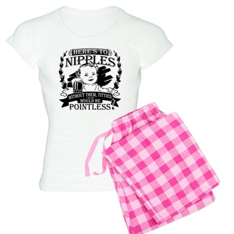 Baby toasting nipples Women's Light Pajamas
