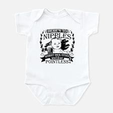 Baby toasting nipples Infant Bodysuit
