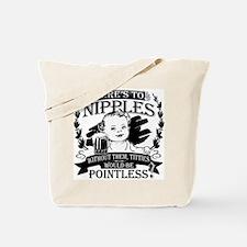 Baby toasting nipples Tote Bag