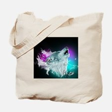 Northern Lights Wolf Spirit Tote Bag