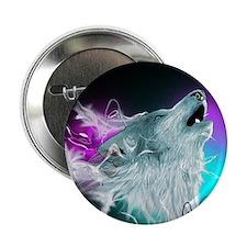 """Northern Lights Wolf Spirit 2.25"""" Button"""