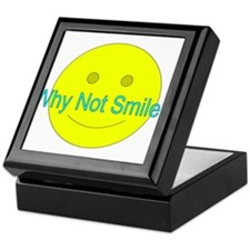 Why Not Smile? (with face) Keepsake Box