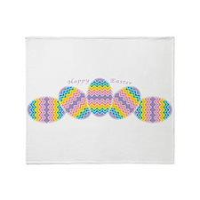 Rainbow Easter Eggs Throw Blanket