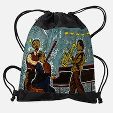 Cute Jazz fest piano bar Drawstring Bag
