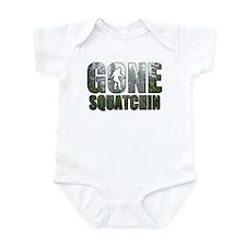 Gone Squatchin deep woods Infant Bodysuit