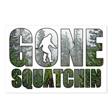 Gone Squatchin deep woods Postcards (Package of 8)