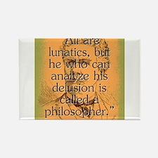All Are Lunatics - Bierce Magnets