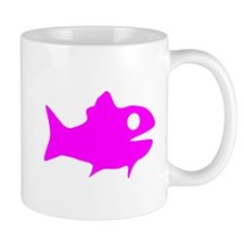 Pink Fish Outline Mug